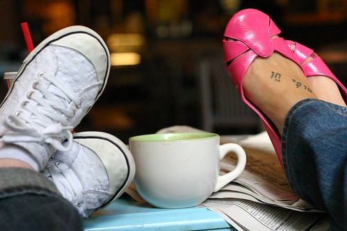 Shoes and a Latte