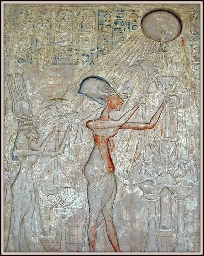la salle d'Akhenaton (1356-1340 av J.C.) (Musée du Caire)