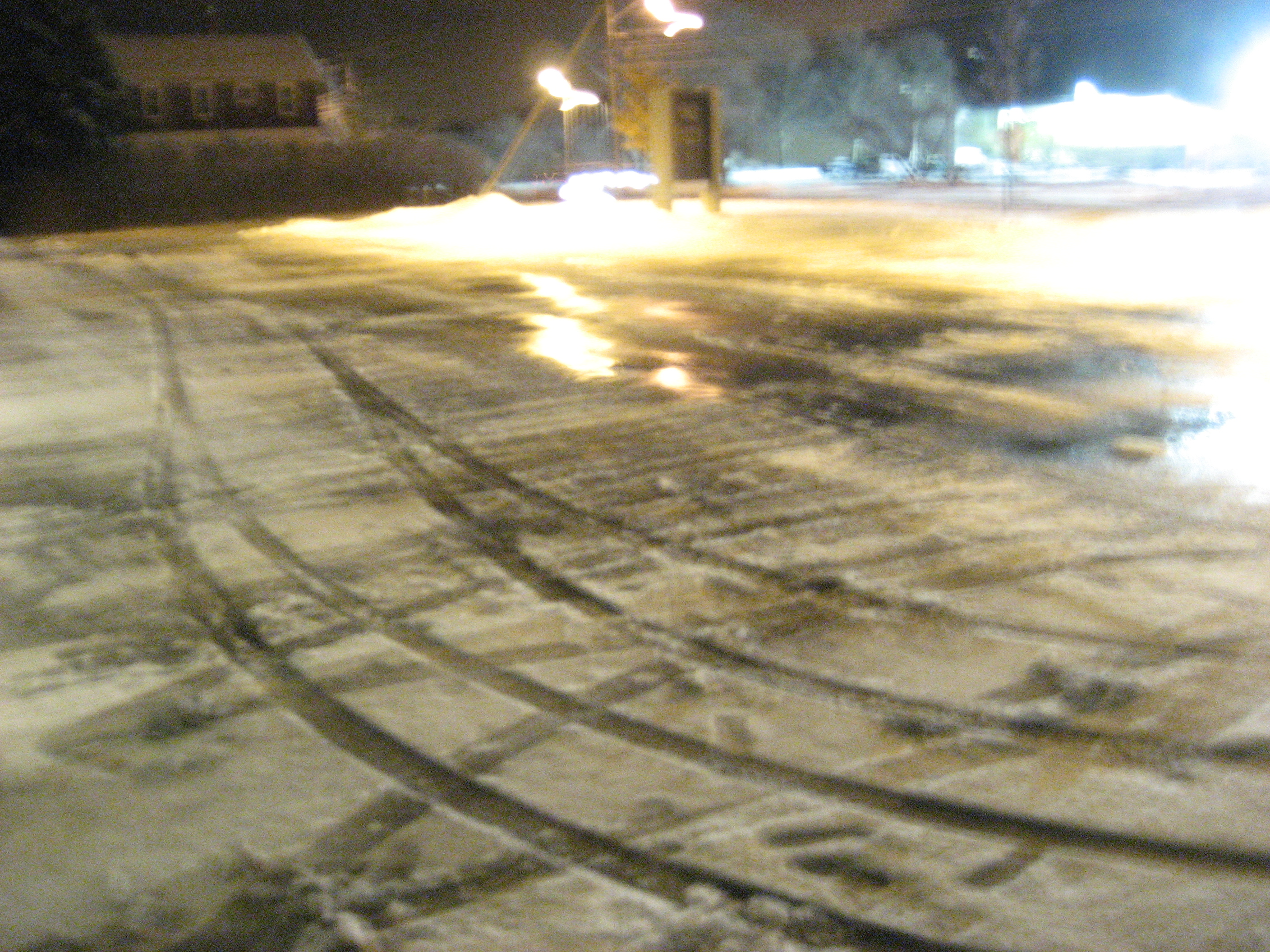 In The News... - Icy Parking Lot at BCHS Closed For Student...