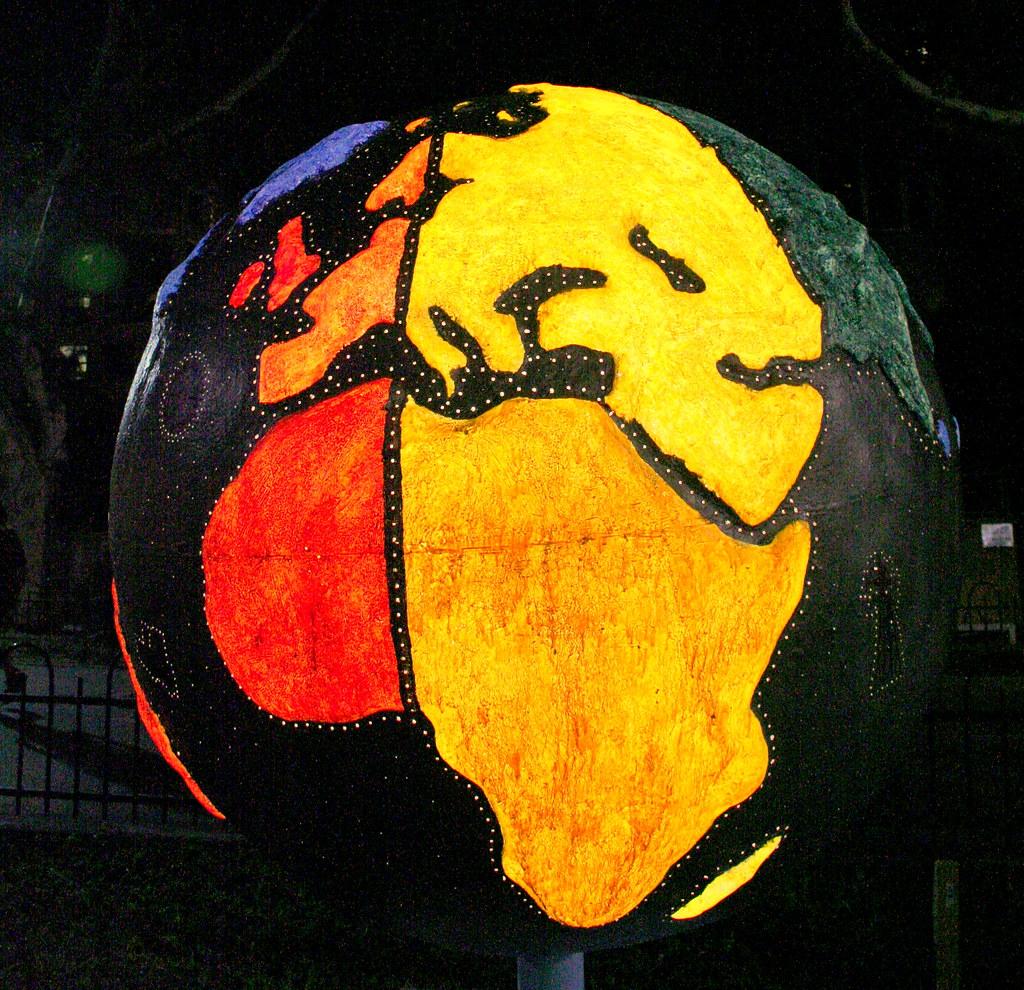 Coloured globe