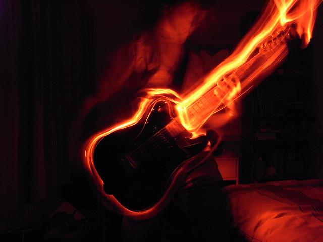 Flaming Guitars Digital Art Hd Wallpaper: Flickr - Photo Sharing