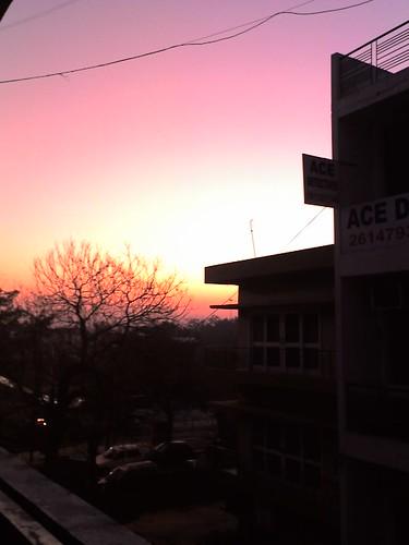 sunrise dawn delhi