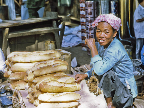 Bread Vendor @ My Tho Market in 1969 by Lance & Cromwell (home safe-pictures coming)