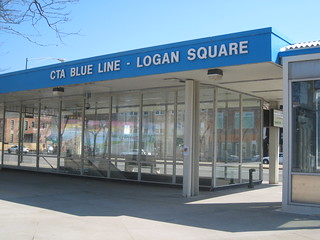 CTA Blue Line Station - Logan Square - Chicago
