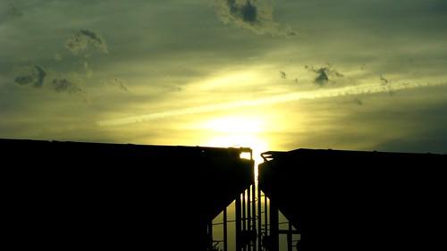 railroad sunset nature sunshine clouds geotagged trains geotag 10millionphotos