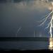 Sturla beach raining lightnings by Francesco Magoga Photography