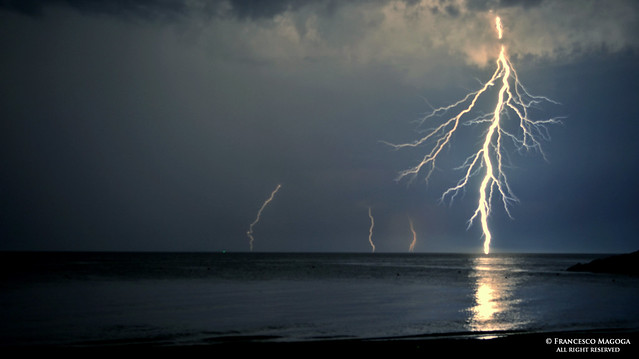 Sturla beach raining lightnings