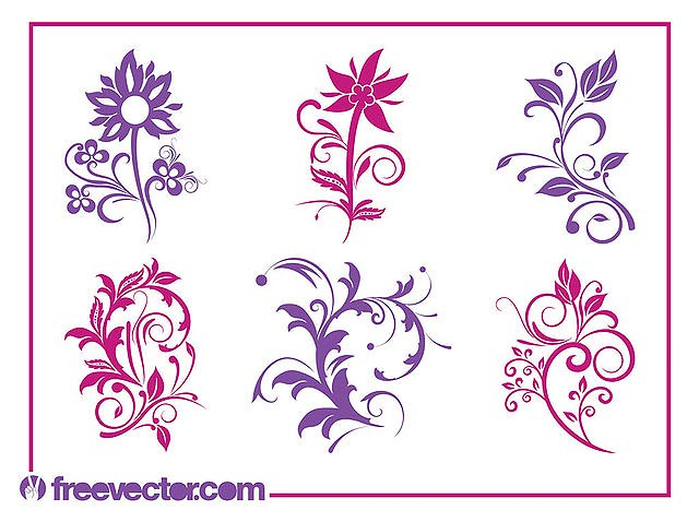 Blooming Flower Pack Silhouettes fresh best free vector packs kits