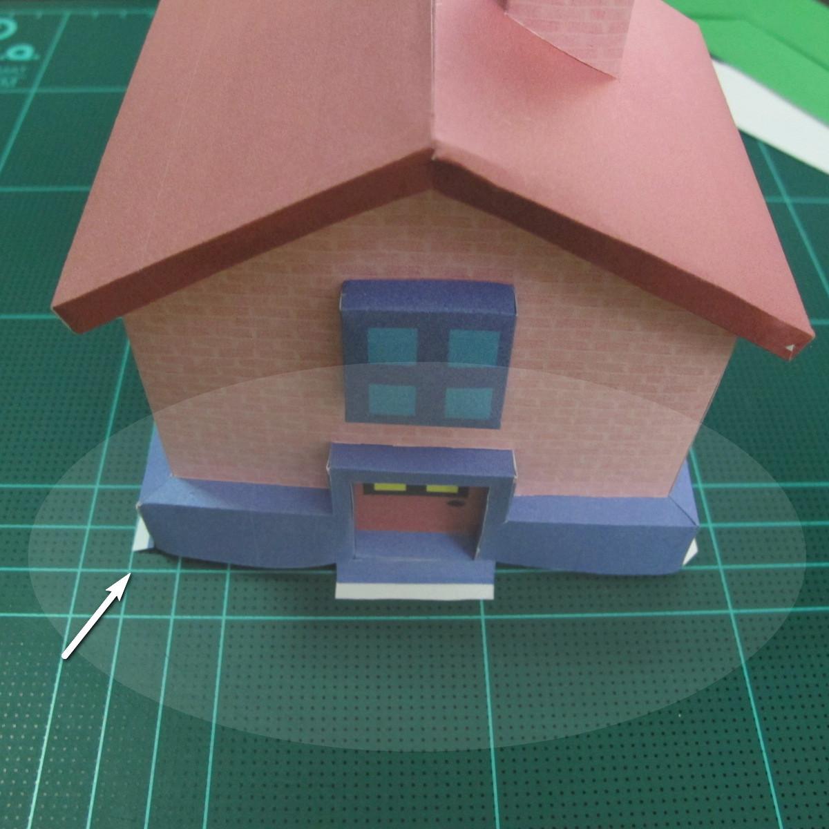 วิธีทำโมเดลกระดาษเป็นรูปบ้าน (Little House Papercraft Model) 013