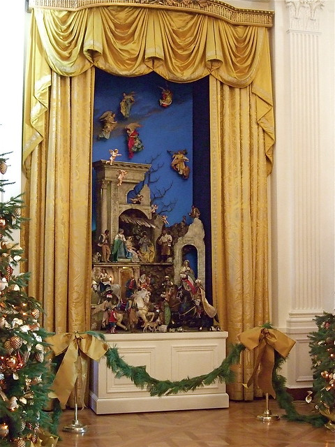 Nativity Scene East Reception Room White House Flickr
