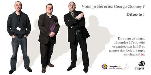 Affiche campagne Libqual+ à Angers