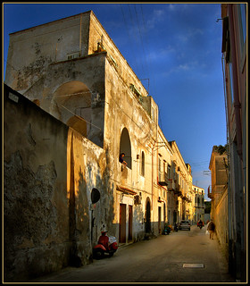 Procida , old typical building