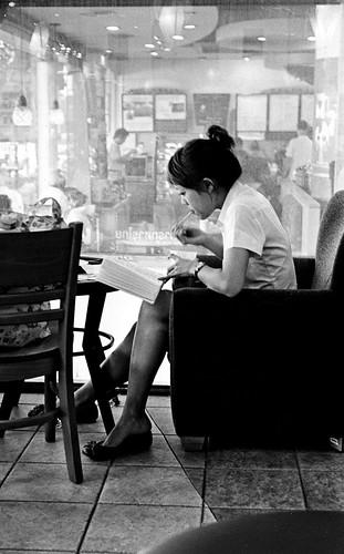 Reading in a Cafe - Bangkok