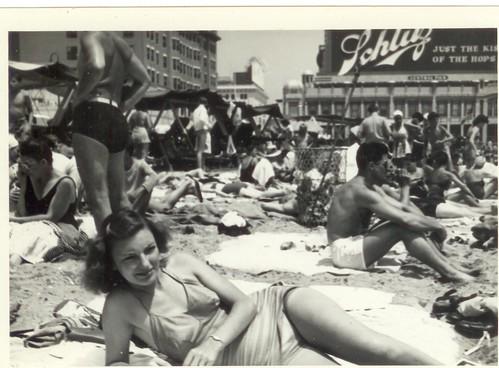 Vintage Satin Swimsuit