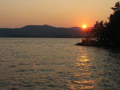 sunset mountain water lakegeorge adirondack