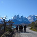 The group walking alongside Lake Pehoe, Torres Del Paine (Helen Pinchin)