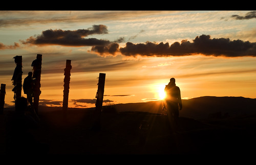 blue sunset sky orange cloud sun nature rock landscape evening russia siberia shaman olchon russland rasenkantenstein postcardisnotadirtyword chuzhir
