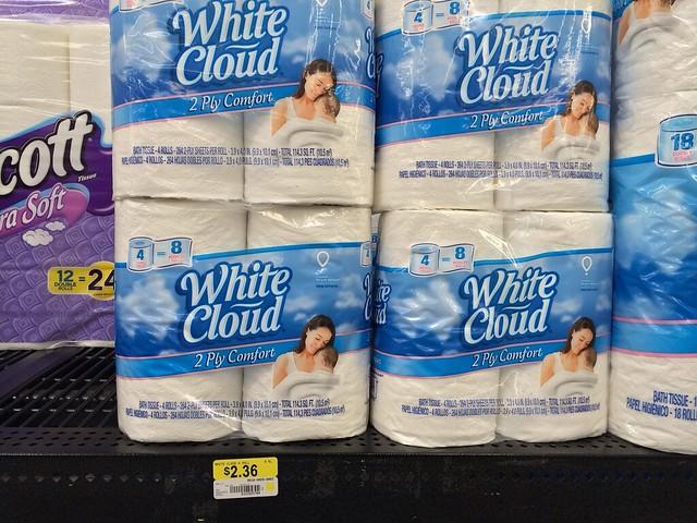 New Walmart Deals White Cloud Bath Tissue 0 005 Sq Ft 1