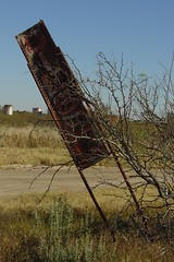 Rusted 'Diesel' sign at Orla, TX