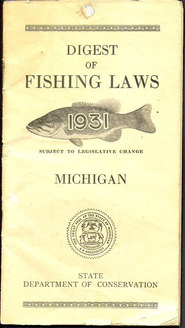 Flickriver photoset 39 michigan outdoor collectibles for Michigan non resident fishing license