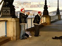 Southbank - Santa musicians