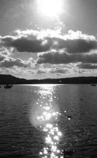 Sun going down over Windermere