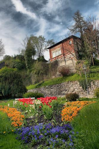 park flowers house garden town hdr hdri kamni
