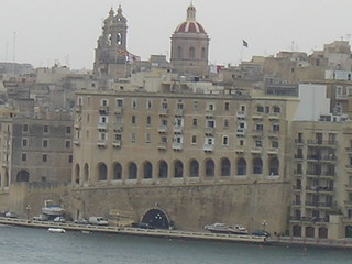 Approaching Valletta on the Sliema ferry