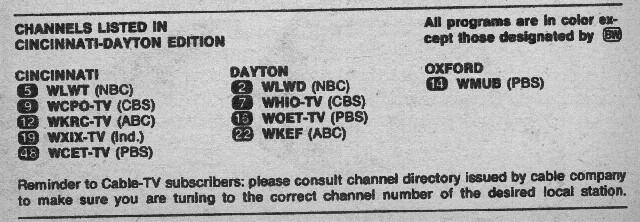 Cincinnati-Dayton Edition (September 7, 1974) | From my TV G
