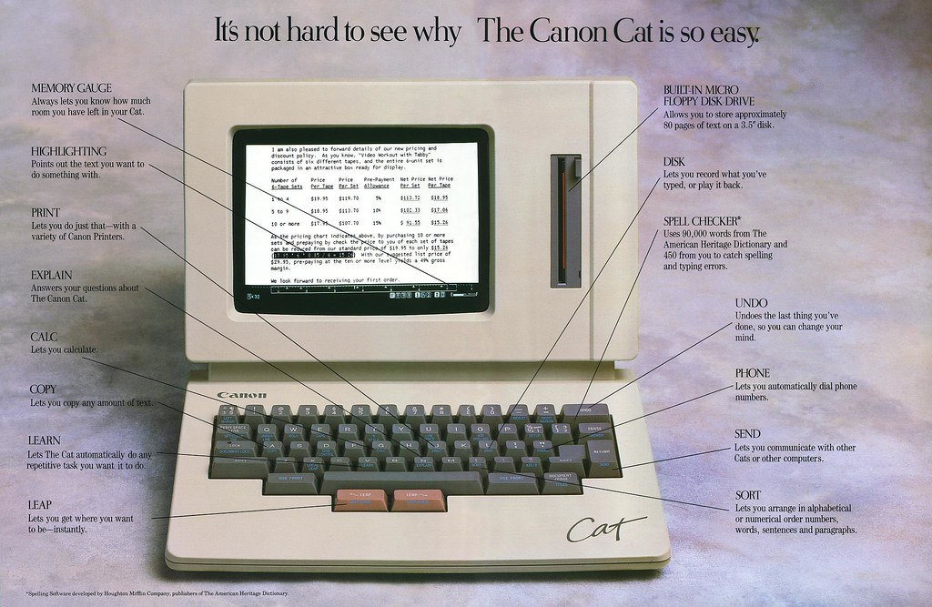 Canon Cat brochure, pages 10-11