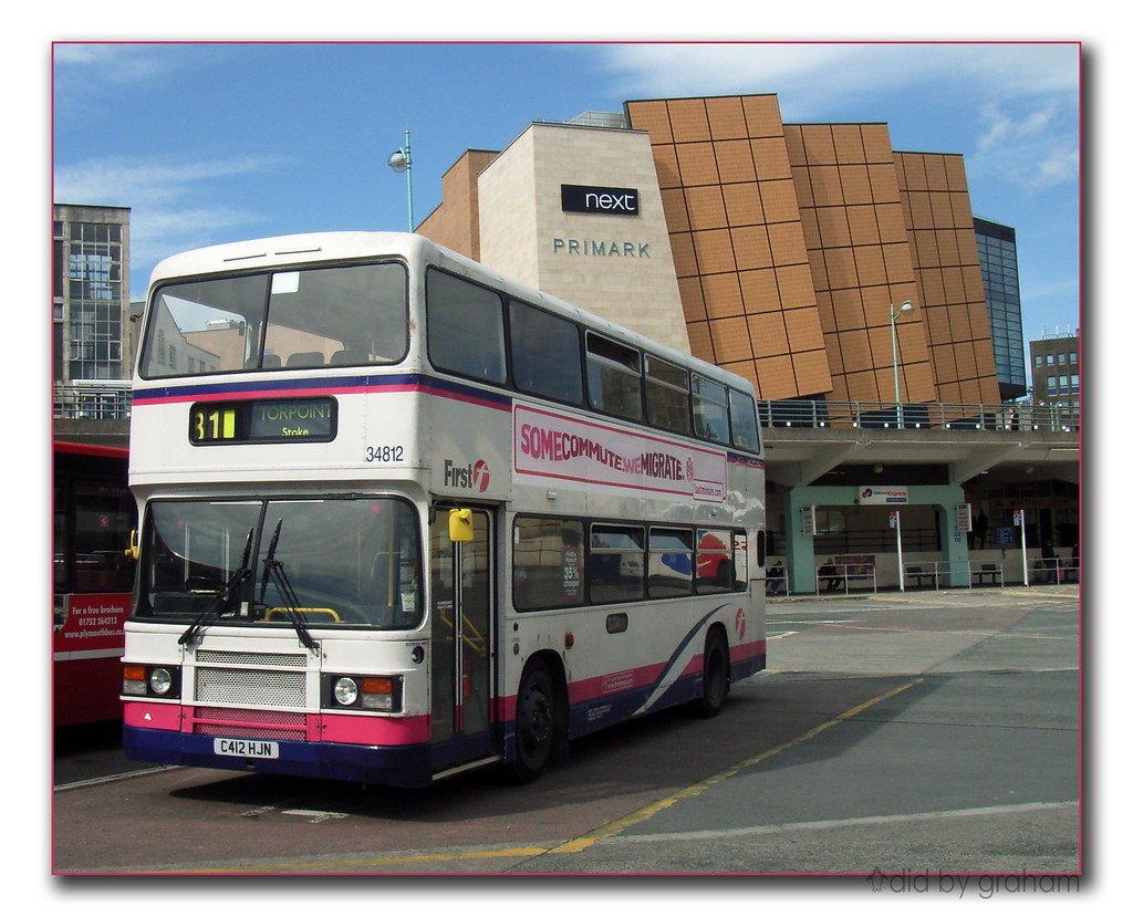 First Devon and Cornwall 34812 C412HJN