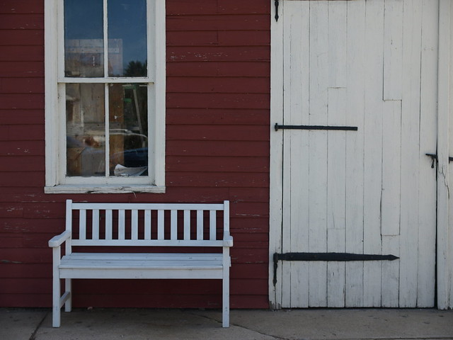 Window, Bench and Door in White