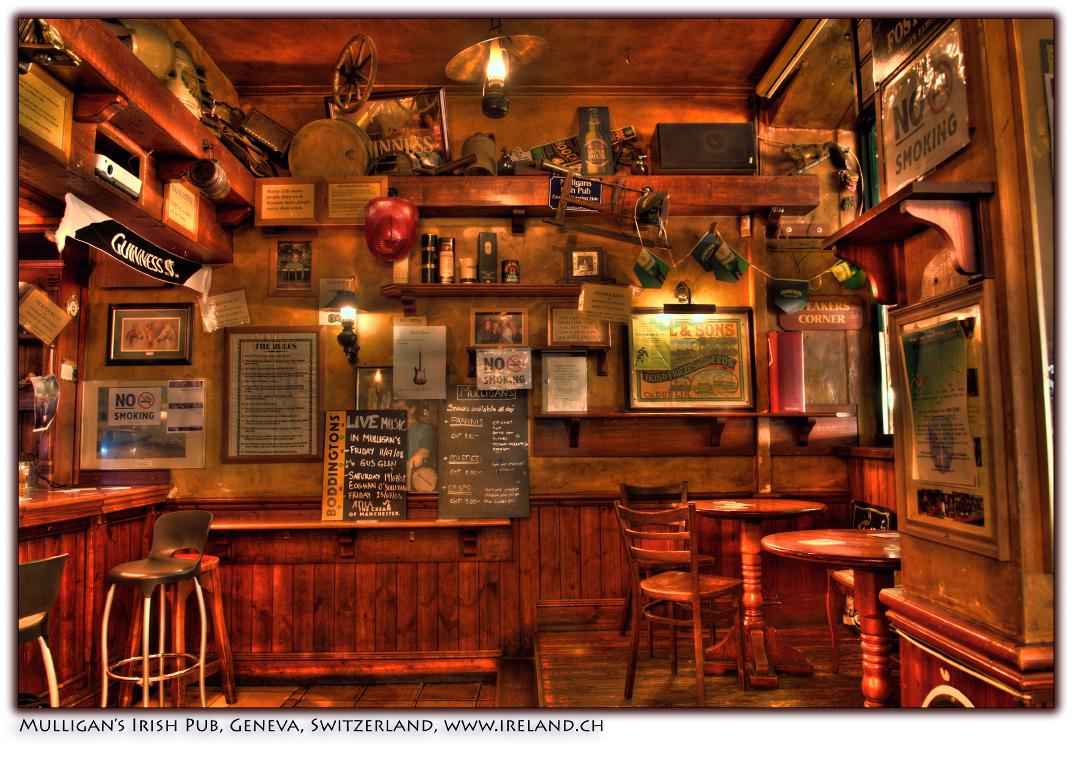 On Black: Mulligans Irish Pub, Geneva, Switzerland, July 2008 by ...