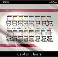 Lilith's Den Gacha - Garden Chairs