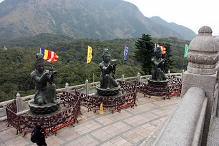 The Offering of the Six Devas statues (three of them).