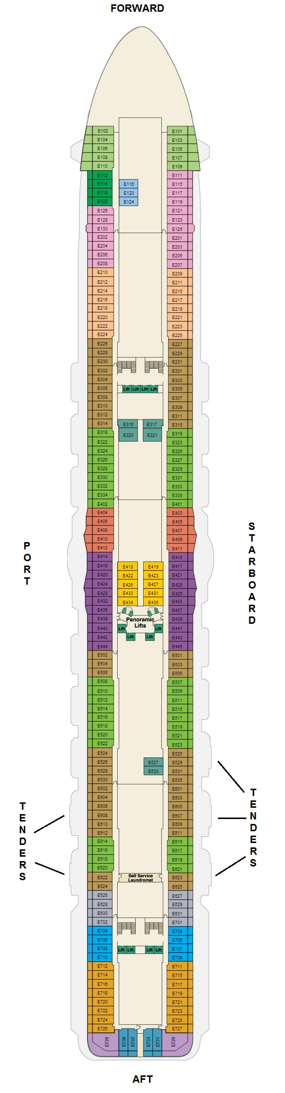 Obstructed view balcony cabins on the royal princess cruise deck plan of emerald deck baanklon Choice Image