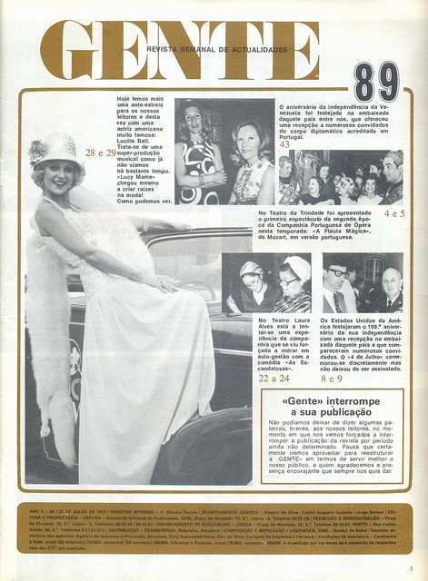 Gente, No. 89, July 22-28 1975 - 2