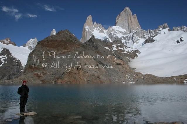 Man In Black II - Fitz Roy - Los Glaciares National Park - Patagonia - Argentina