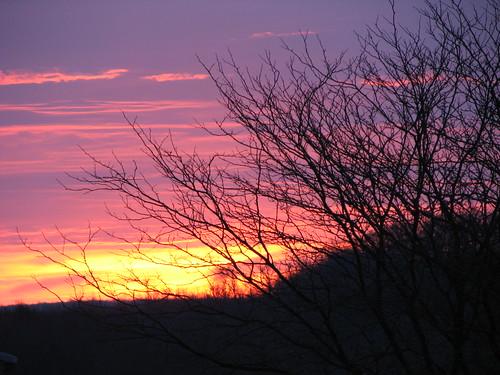 newyork sunrise victor purplesky reddawn