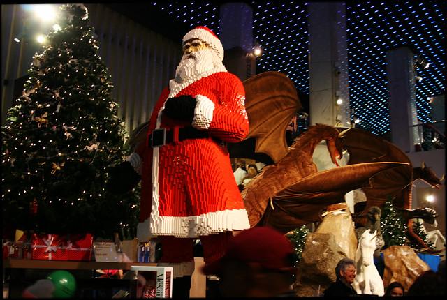 Lego Santa at FAO Schwartz