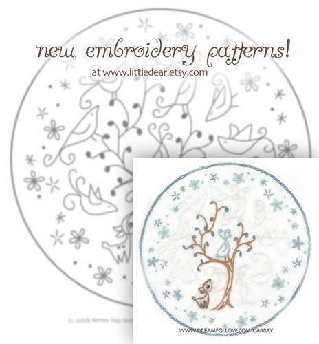 Ghost Birds embroidery pattern