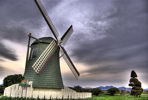 Windmill under a Threatening Sky