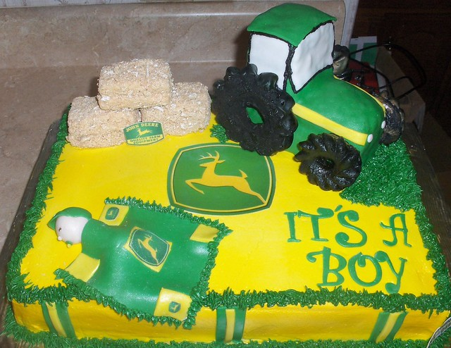john deere baby shower cake flickr photo sharing