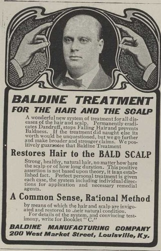 1902 Baldness Cure Ad