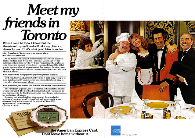Vintage Ad #405: Meet My Friends in Toronto