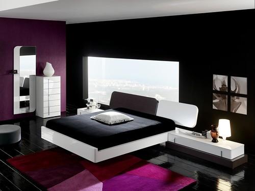 Pink and black bedroom interior design for Pink and black bedroom designs