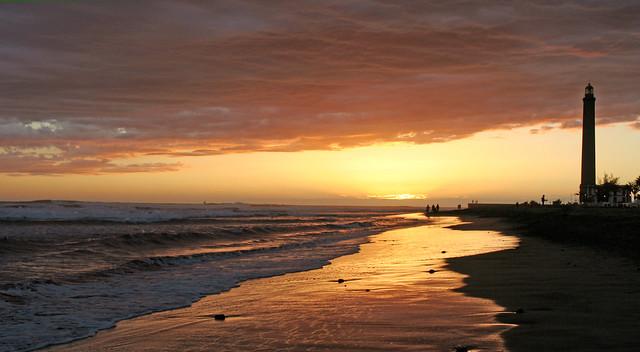 Lighthouse Maspalomas Sunset