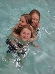 kids in hotel pool