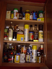 Right Spice Cabinet - Before