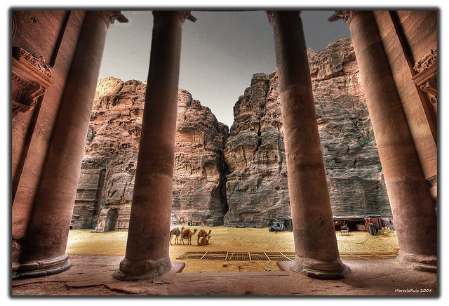 Inside the Treasury................(Petra, Jordan)